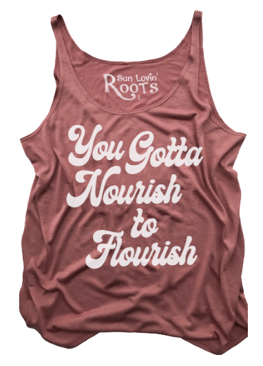 'Flourish' Willow Slouchy Tank