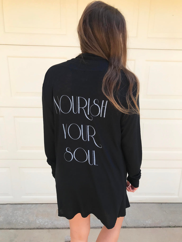 'Nourish Your Soul' The Tawny Cardi