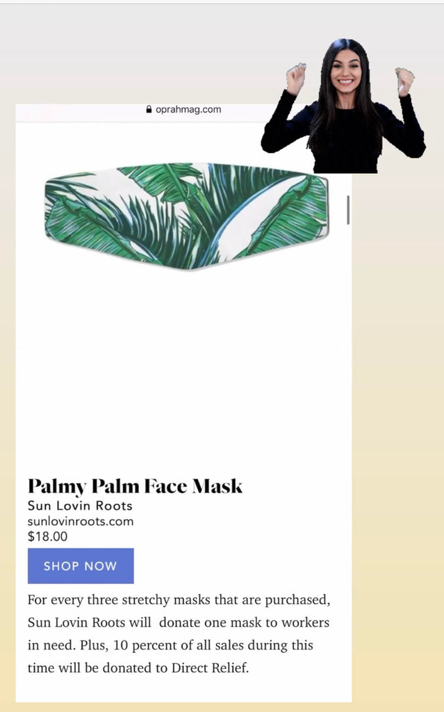 Face Mask/Cover: Palmy Palm