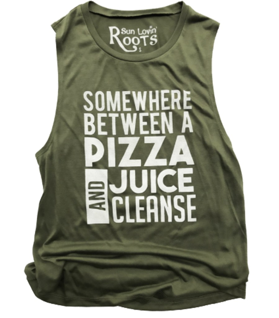 'Pizza Cleanse' Mikey Muscle Tank