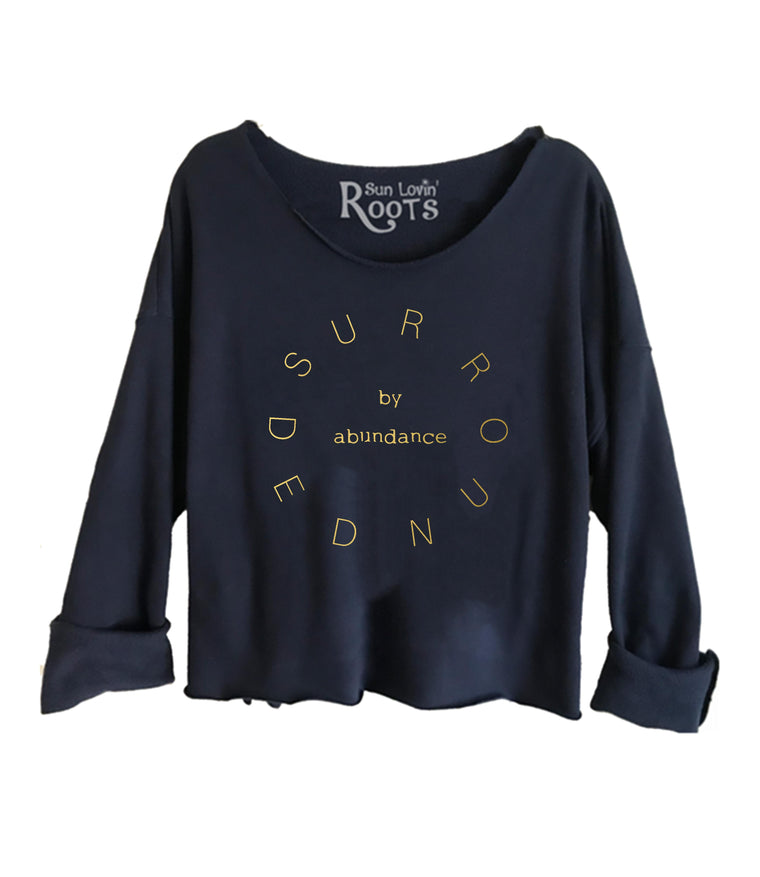 'Surrounded By Abundance' Raglan Boyfriend Sweatshirt