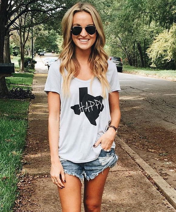 'Texas Happy' the Parker Boyfriend Tee