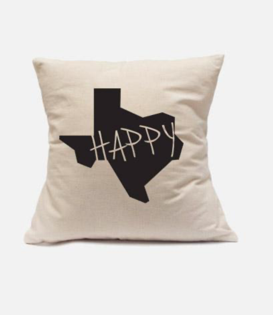 'Texas Happy' Throw Pillow