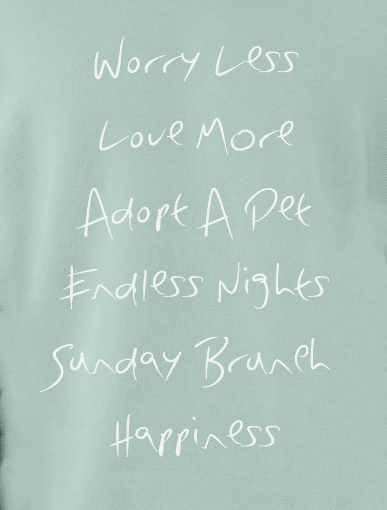 'Worry Less, Love More' Raglan Boyfriend Sweatshirt
