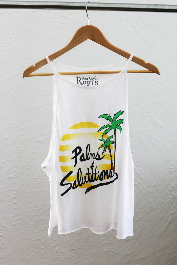 'Palms and Salutations' Selena Tank