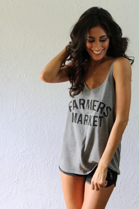'Farmers Market' Willow Slouchy Tank