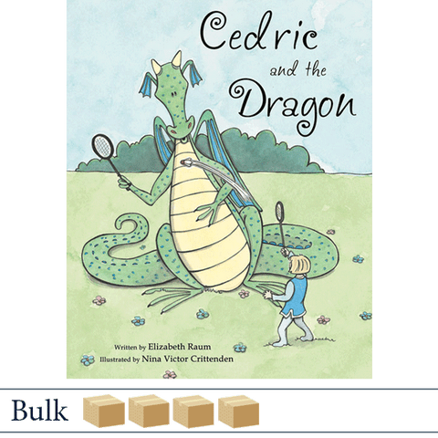 Bulk 200 books Cedric and the Dragon by Elizabeth Raum, illustrated by Nina Crittenden