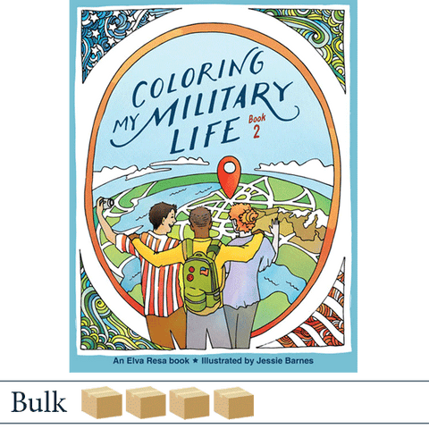 Bulk 200 Coloring My Military Life Book 2 by Jessie Barnes. Published by Elva Resa Publishing.