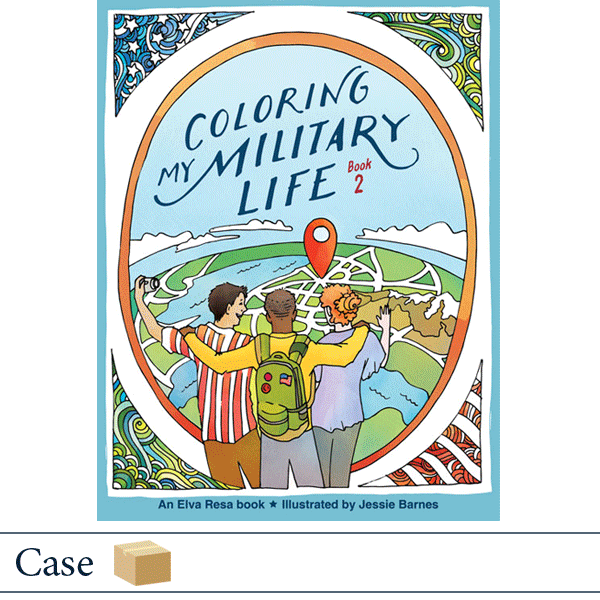 Case of 50 Coloring My Military Life Book 2 by Jessie Barnes. Published by Elva Resa Publishing.
