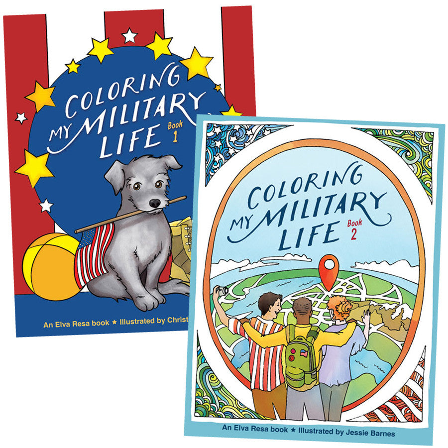 Coloring My Military Life 1-2 Pack