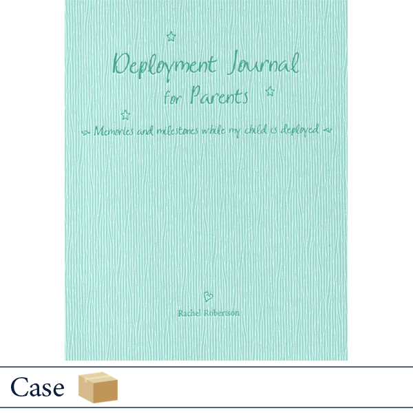 Case of 24 Deployment Journal for Parents by Rachel Robertson