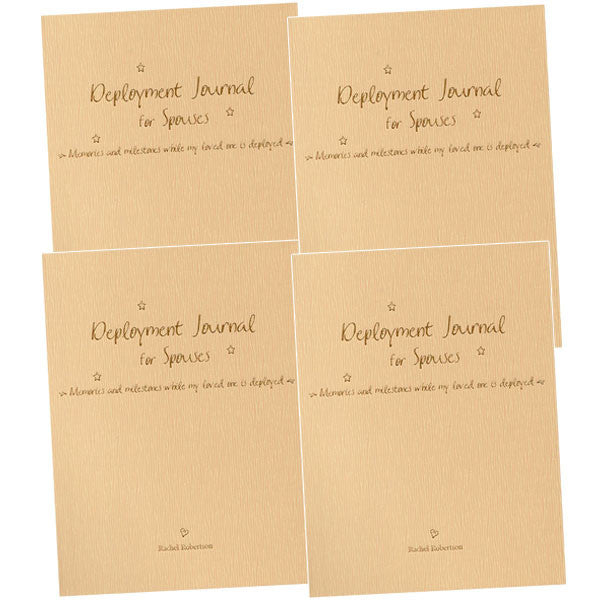 Deployment Journal for Spouses by Rachel Robertson CASE