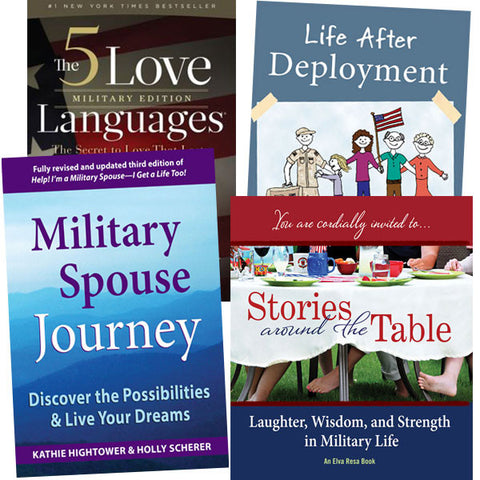 Military Couples Gift Pack: 5 Love Languages, Life After Deployment, Military Spouse Journey, Stories Around the Table