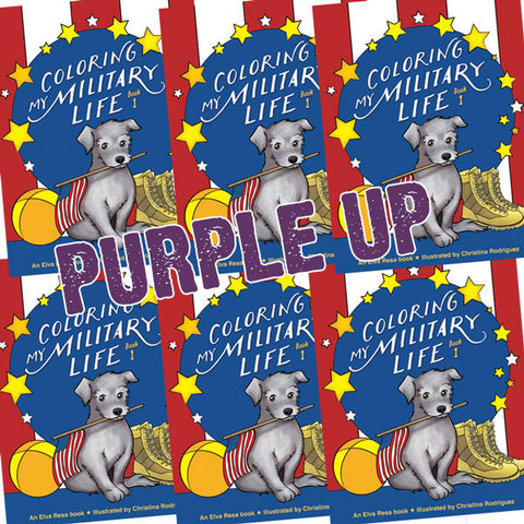 PURPLE UP Coloring My Military Life—Book 1