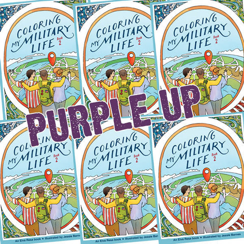 PURPLE UP Coloring My Military Life—Book 2
