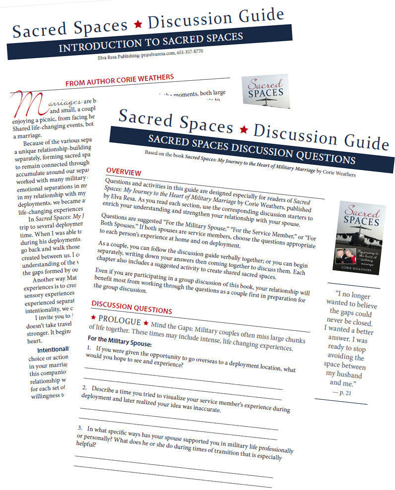 Sacred Spaces Discussion Guide Packs