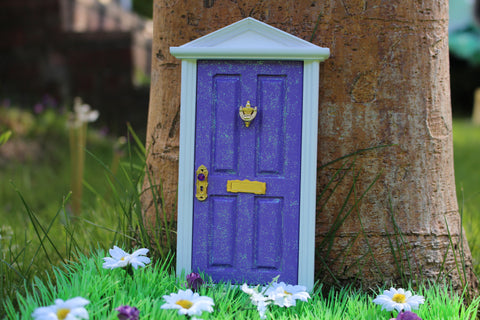 Purple magical fairy door