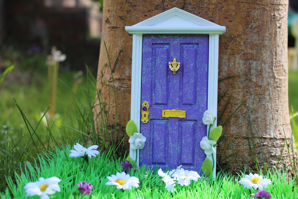 Purple magical fairy door with extras!