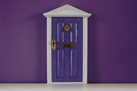 Opening purple fairy door