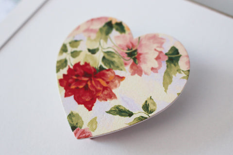 Cream heart fridge peg magnet