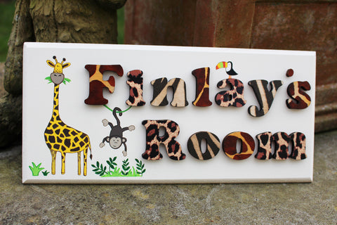 Jungle themed plaque