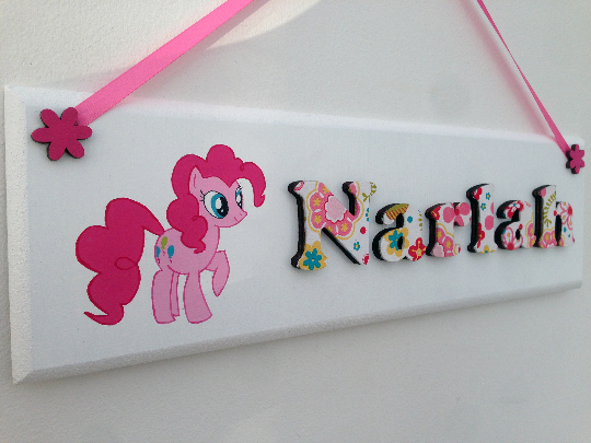My Little Pony wooden bedroom door sign