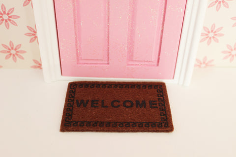 Miniature fairy door mat