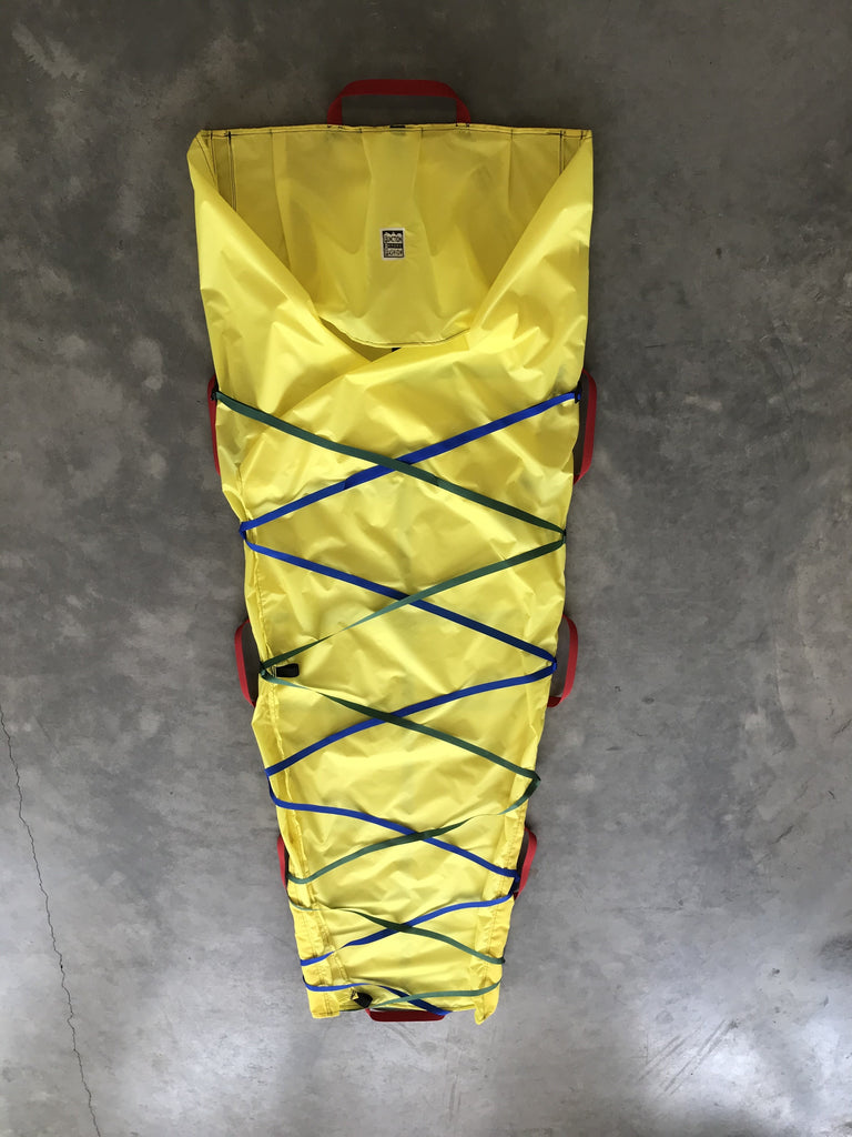 Backcountry ski rescue sled/ tarp shelter