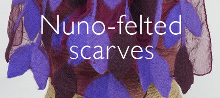 Nuno-felted scarves