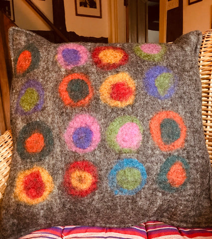 Kandinsky Felt Cushion Cover