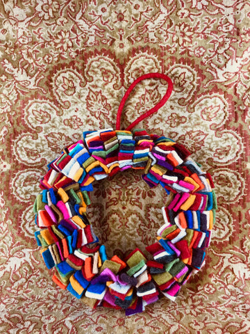 Felt Multicoloured Wreath