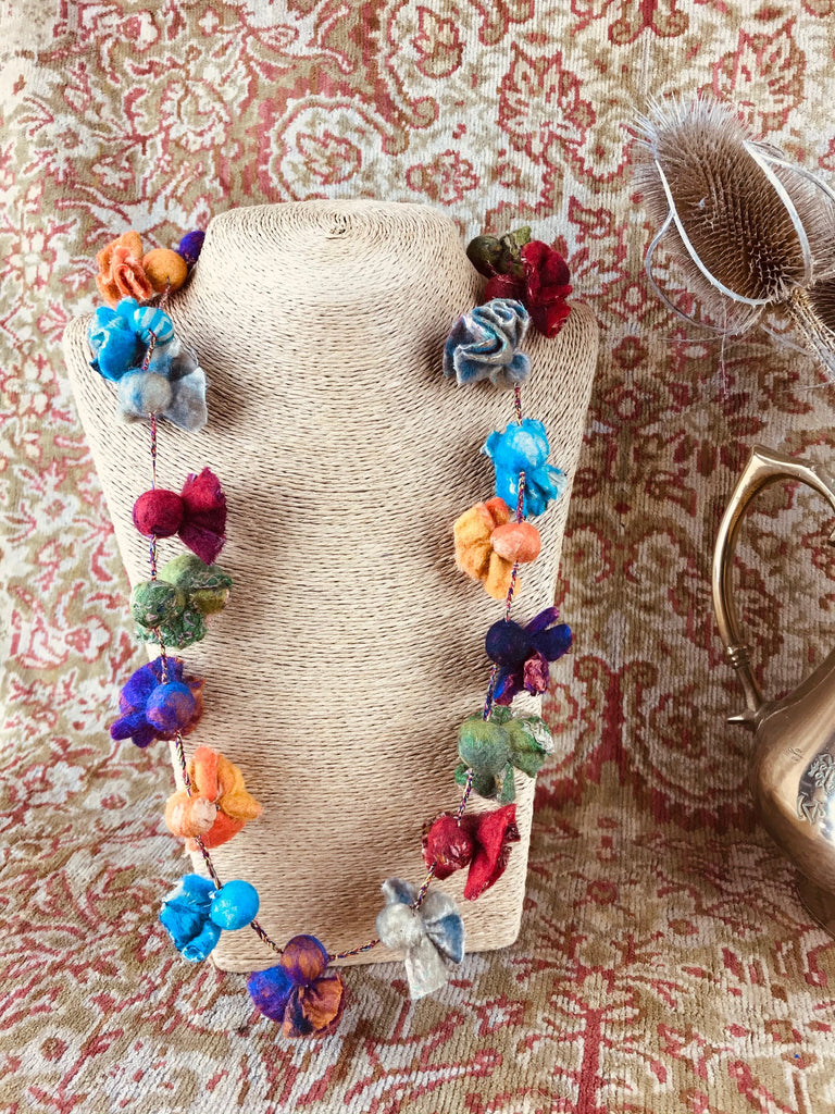 Silk Sugarbag Felt Necklace
