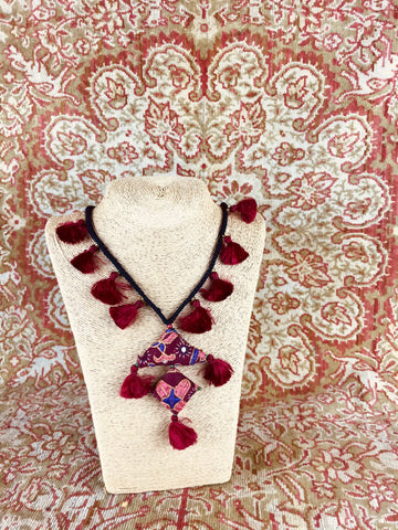 Fairtrade Embroidered Amulet Necklace