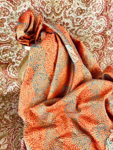 Handstitched Kantha Shawl
