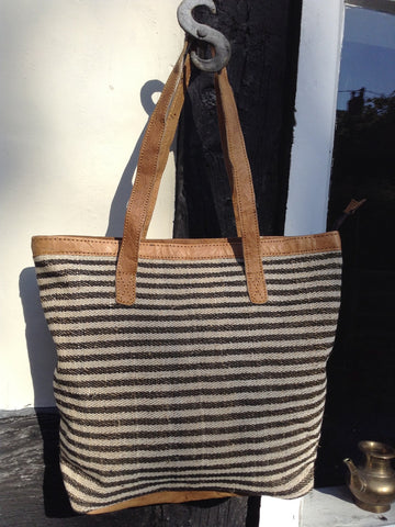 Aya Hemp Striped Shopper