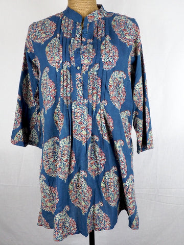 Pleat Front Kurta Blouse 002