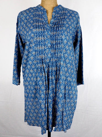 Pleat Front Kurta Blouse 003