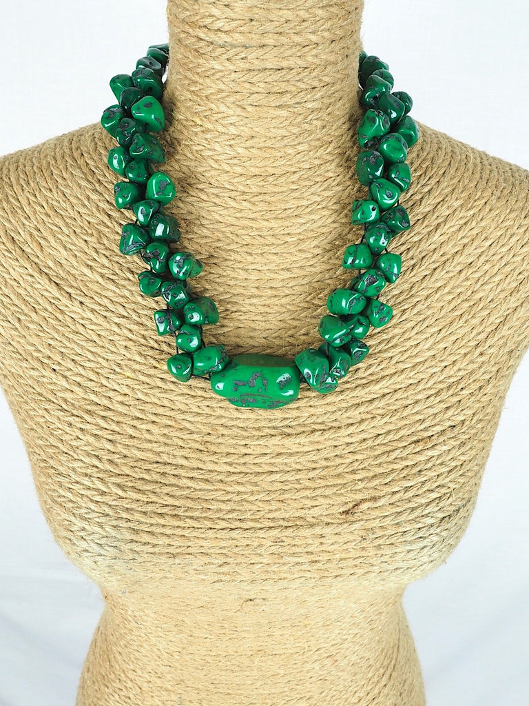 Green Faux Turquoise necklace
