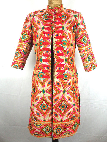 Mandarin Embroidered Jacket 07