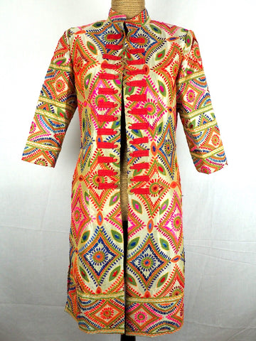 Mandarin Embroidered Jacket 08
