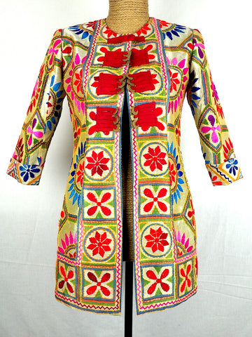 Mandarin Embroidered Jacket 11