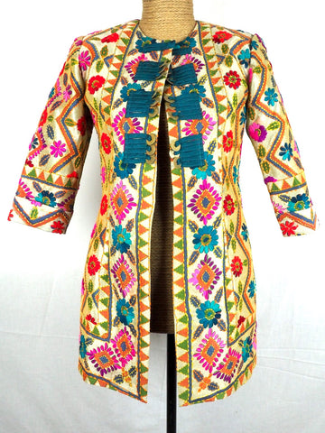 Mandarin Embroidered Jacket 10