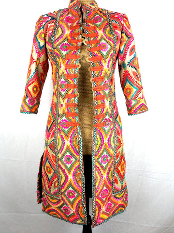 Mandarin Embroidered Jacket 12