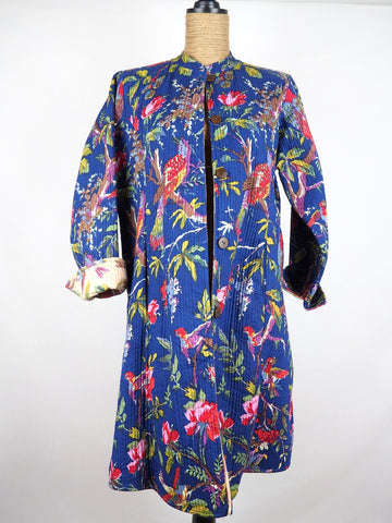 Nehru Coat Tropical Blue