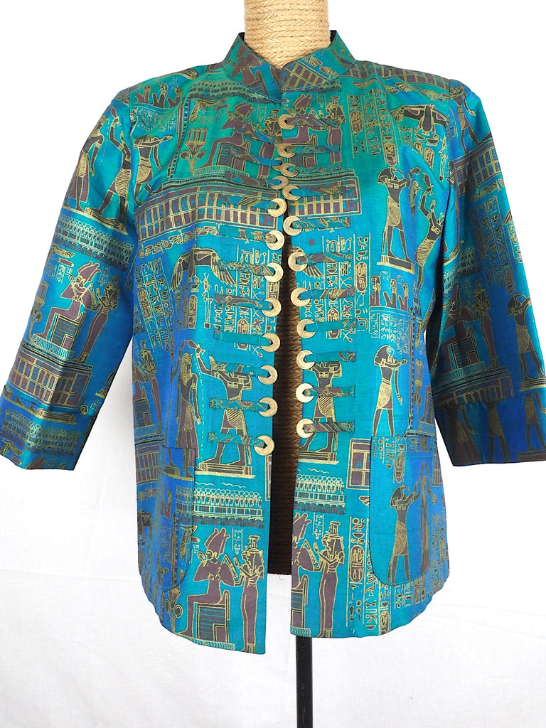 Nehru Collar Thai Silk Jacket