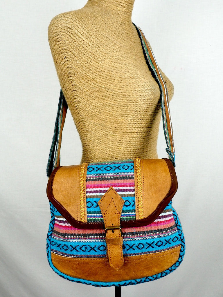 Cross-stitched Shoulder Bag 03