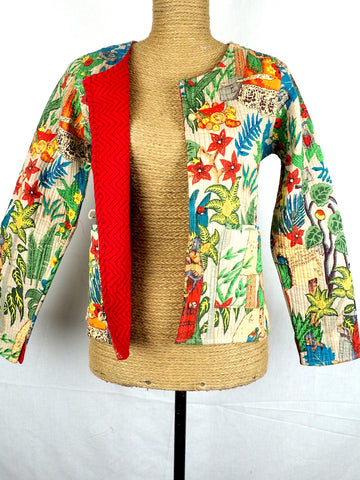 Collarless Frida Jacket 003
