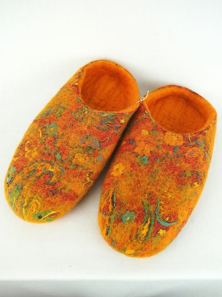 Frooti Felt Slippers Orange 01