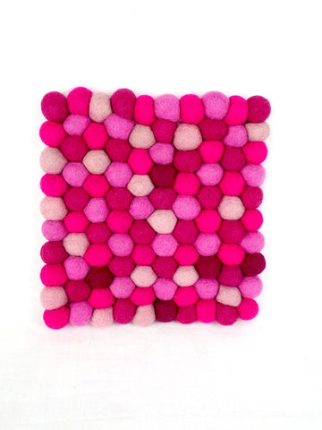 Pot Stand Square Pink
