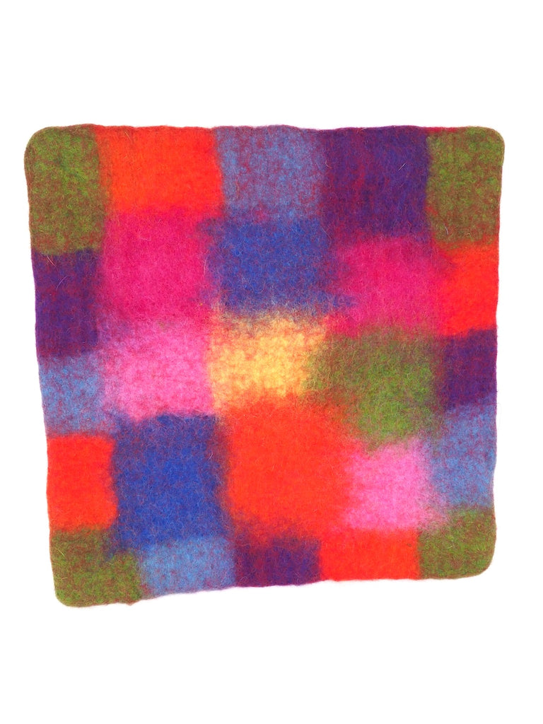 Rainbow Seat Cushion Square